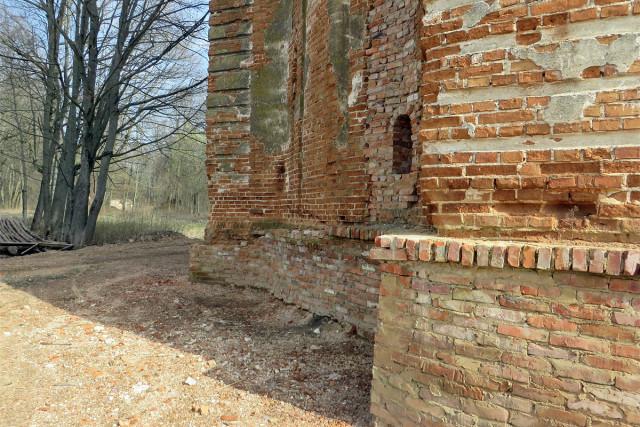 Фрагмент стены колокольни