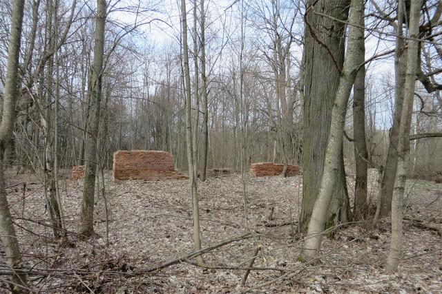 Остатки сооружения, построенного, похоже, в более поздние годы