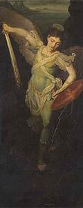 Икона «Архангел Михаил» (с северной двери иконостаса). 1814–1815. Холст, масло. ГТГ