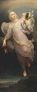 Икона «Архангел Гавриил» (с южной двери иконостаса). 1814–1815. Холст, масло. Государственный музей искусств им. А.Кастеева. Алма-Ата