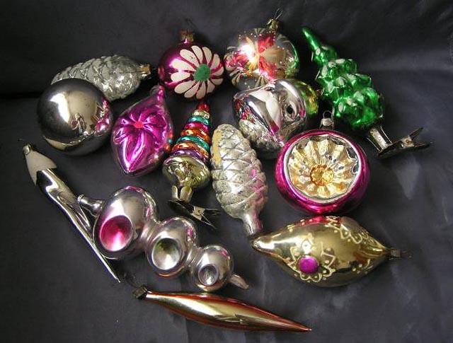 Традиционные ёлочные игрушки советского времени