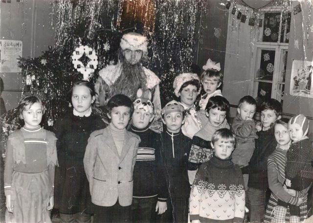 Новогодний утренник для детей сотрудников Новозыбковского педучилища, 1982 г.