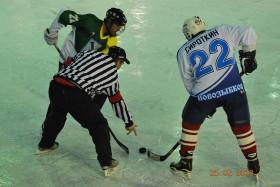 Хоккей: ветераны - молодёжь. Фото: Н.Вележев