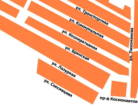 Новые улицы Новозыбкова в северо-западном районе индивидуальной застройки