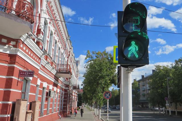 Новый светофор в центре Новозыбкова. Фото: А.Дмитроченко