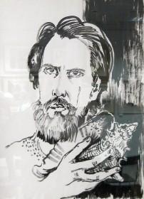 В.Поляков. Автопортрет с раковиной