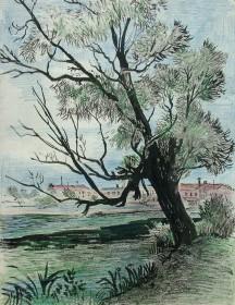 В.Поляков. Дерево у озера Карна