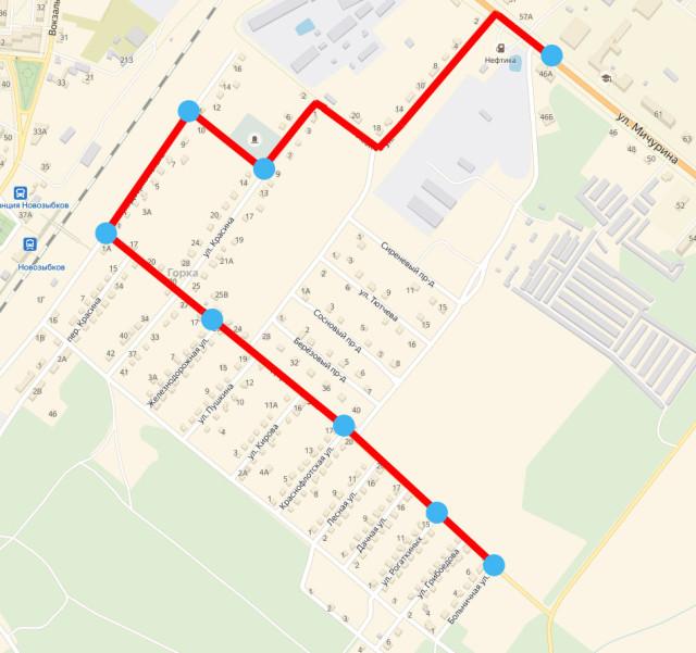 Бесплатный автобусный маршрут к участку 696