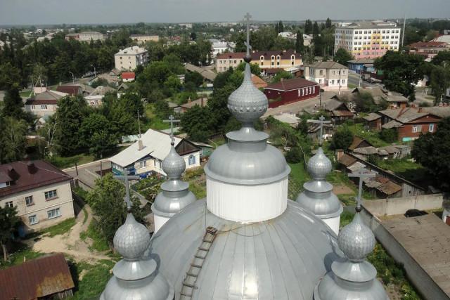 Вид с колокольни Никольско-Рождественского храма. Фото: А.Белас