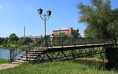 Новозыбков. Пешеходный мост у городского пляжа