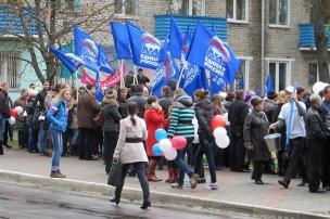 Синие флажки. Фото: А.Дмитроченко