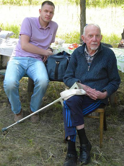Н.С.Горев с внуком