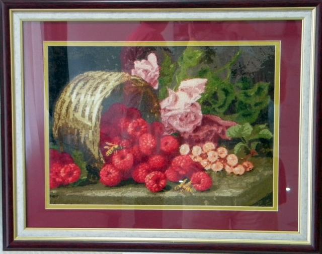 Розы и малина