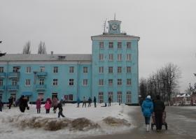 Площадь зимой. Фото К.Попова
