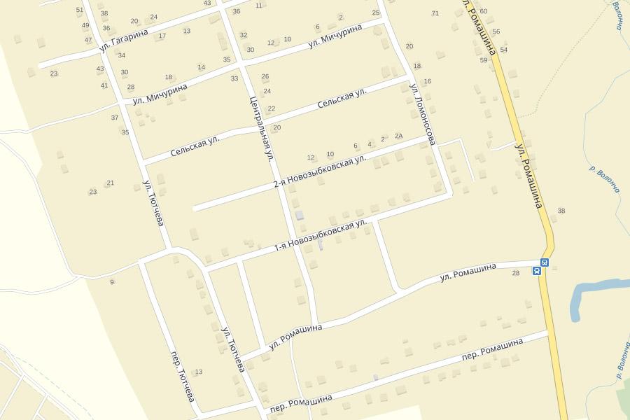 Новозыбковские улицы в деревне Антоновка
