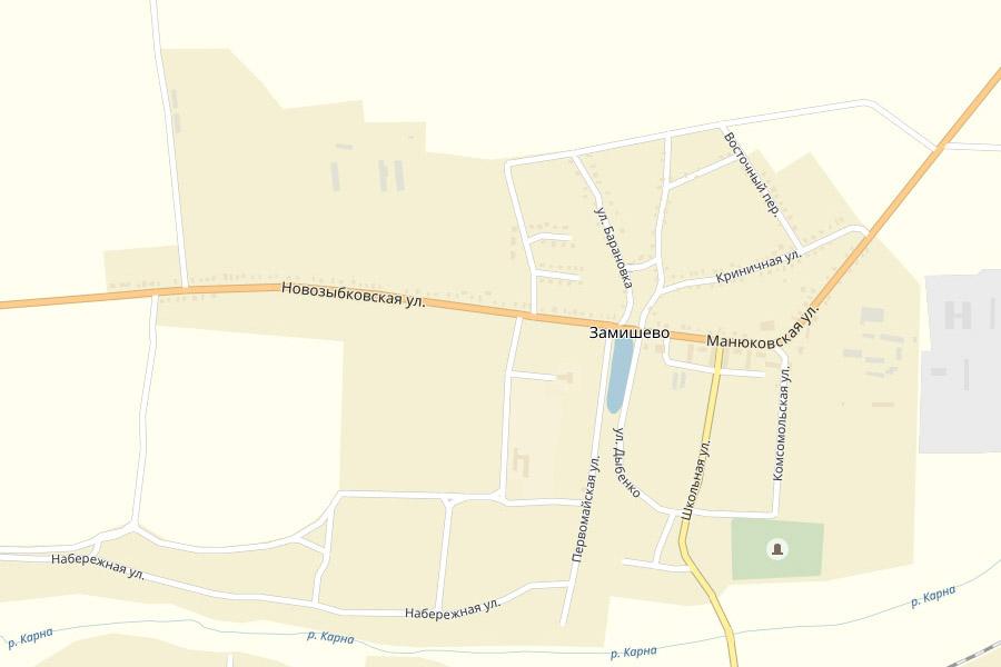 Новозыбковская улица в Замишево