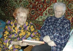 С женой Ревеккой Наумовной. 2005 г.