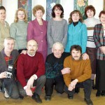 Зыбчане на выставке Маркиной, 2002 г.