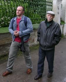 В Новозыбкове с сыном