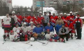 После матча Ветераны-Молодёжь, 2006 г.