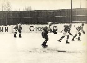 Матч Труд-Волна, 1967 г. Слева направо: А.Мецгер, В.Саманков, Е.Ощепков
