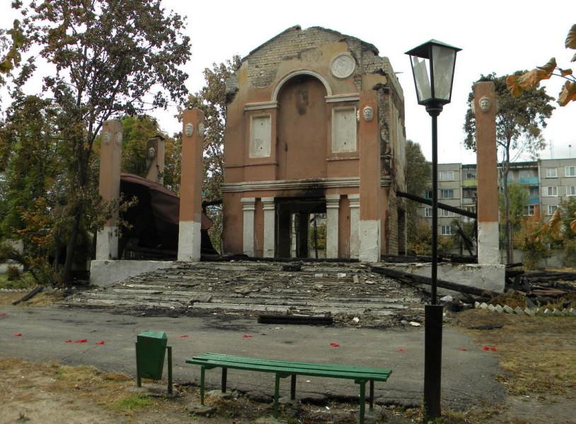Летний театр сразу после пожара