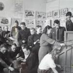 Студенты и преподаватели НСХТ во время сессии 1947/48 учебного года