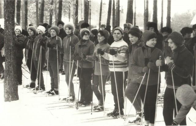 Лыжный кросс. Преподаватели и студенты НСХТ.