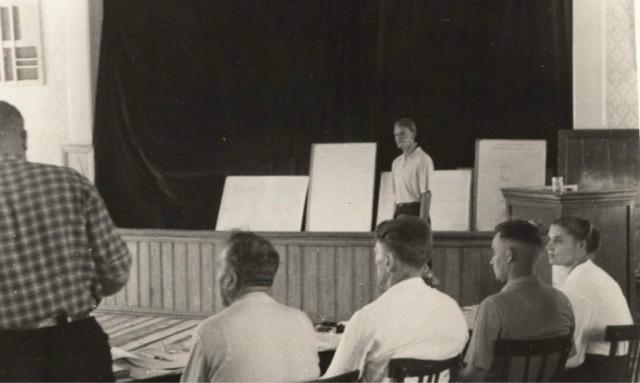 Защита дипломных проектов. конец 50-х годов