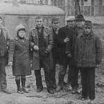 Строительство Индуктора, 2-я очередь (70-е). Вторая слева - Хурса Римма Степановна