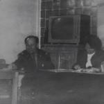 конец 60-начало 70  Конкурс  А ну-ка  парни  В жюри -Справа  Тарасова Е.Н- нач ПЭО рядом Пашкова Л.И.- инженер ОТиЗ и в центре  муж Тарасовой Е.Н.