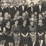 Начало 60-х. Бригада отделочников, в центре - знаменитый бригадир Юнг А.Ф.