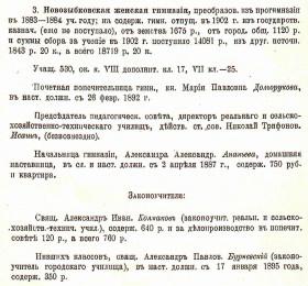 Княгиня Долгорукова М.П. - попечительница женской гимназии