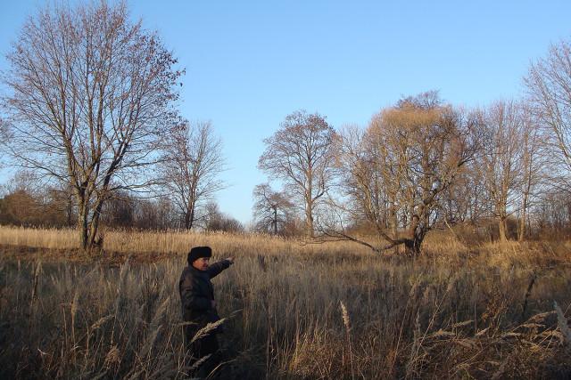 Поддубный А.И. указывает, где находилась монастырская ограда