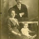 Мастюгин П.Ф. с женой и дочерью