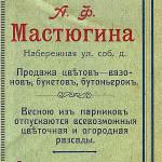 Справочник Весь Новозыбков на 1914 г - О деятельности Мастюгина А.Ф.