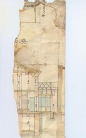 фрагмент плана-чертежа здания синематографа МОДЕРН
