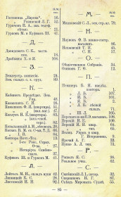 Справочник Весь Новозыбков на 1914 г. Список абонентов телефонной сети (3)