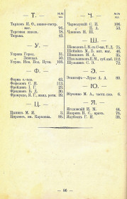 Справочник Весь Новозыбков на 1914 г. Список абонентов телефонной сети (4)
