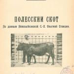 Клеменчич Е.О. Полесский скот. 1927 г.