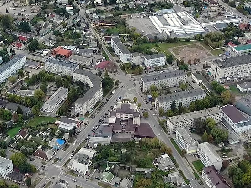 Вид на Пять углов с квадрокоптера. Фото: Игорь Сокол