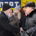 Вручение подарка ветерану К.Попову