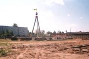 Строительство площади Дружбы славянских народов, лето 2003 года