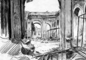 Развалины Дрезденской галереи. 1945. Худ. П.А.Чернышевский