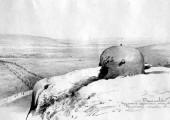 Разрушенное немецкое укрепление. 1945. Худ. П.А.Чернышевский