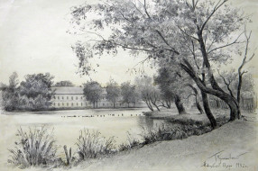 Новозыбков. Озеро. 1952. Худ. П.А.Чернышевский