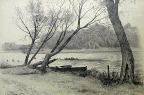 Новозыбков. Озеро Карна. 1979. Худ. П.А.Чернышевский
