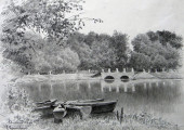 Новозыбков. Озеро. Худ. П.А.Чернышевский