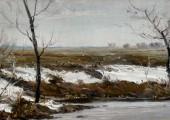 Последний снег. Худ. П.А.Чернышевский
